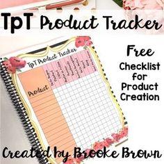 FREE TpT Seller Product Tracker!