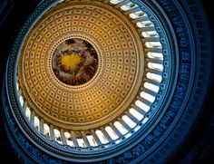 Interior of dome, U.S. Capitol  Fond memories from top to bottom.