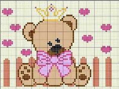 Pin on Diagramme Easy Cross Stitch Patterns, Cross Stitch For Kids, Simple Cross Stitch, Cross Stitch Baby, Crochet Stitches Patterns, Crochet Chart, Cross Stitch Kits, Embroidery Patterns, Beaded Cross Stitch