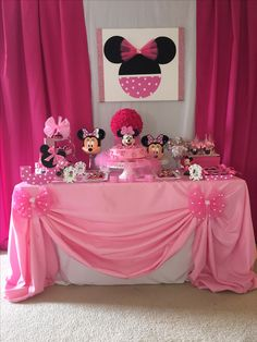 mickey mouse birthday party ideas Minnie Mouse Birthday Party Ideas intended for Newest - Birthday Ideas Make it Anniversaire Theme Minnie Mouse, Minnie Mouse Birthday Decorations, Minnie Mouse Theme Party, Minnie Mouse First Birthday, 1st Birthday Party For Girls, Minnie Mouse Baby Shower, Mickey Birthday, Mickey Party, Birthday Parties