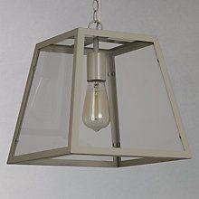 Buy John Lewis Chester Glazed Frame Single Ceiling Light, Grey Online at johnlewis.com