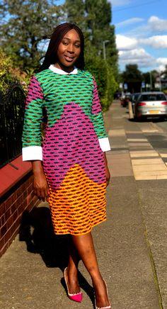 African Print Ankara Pencil Dress in long Sleeves African Print Fashion, Africa Fashion, Fashion Prints, Fashion Design, Fashion Ideas, African Wear, African Attire, African Dress, Maxi Skirt Tutorial