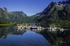 Boats in Svolvær, Lofoten Islands, Norway