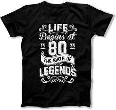 80th Birthday Gifts For Men Grandpa Birthday Shirt Bday T