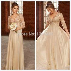 Plus Size Ivory Pearls Crystal V Neck Empire Long Chiffon Elegant Maternity Evening Dresses For Pregnant Women E844