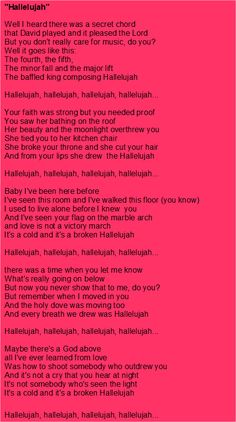 Hallelujah lyrics