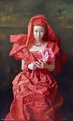 'Red Paper Bride' by Zeng Chuanxing (born 1974), NeoRomanticism.