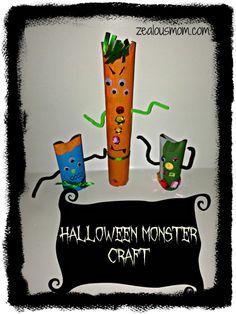 Halloween Monster Craft #halloweencraft - Zealous Mom