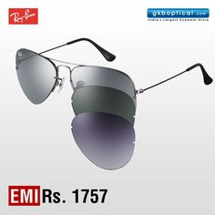 ae7464ef738 Flaunt three different Ray-Ban aviator sunglasses at the price of one with  this Flip. Stylish ...