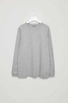 COS image 5 of Sweatshirt with rib shoulders in Grey