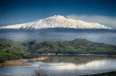 #Etna vista da Agira (EN) Der Plan, Active Volcano, Sicily Italy, Catania, Planet Earth, Homeland, Strand, Waterfall, Mountains