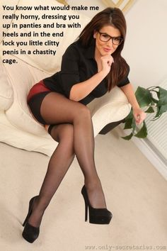 seamed stocking chastity captions Black
