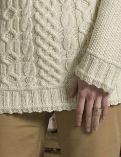 A classic raglan aran pullover with seed stitch and fluted edges. Arm Knitting, Knitting Stitches, Knitting Patterns, Knit Edge, Seed Stitch, Knitwear Fashion, Knitting Accessories, Knit Jacket, Jumpers For Women