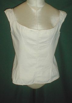 """Early 1820's Antique White Cotton Corset 