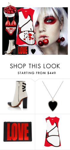 """""""Red, Black and White"""" by obsessedaboutstyle on Polyvore featuring Proenza Schouler, Jennifer Meyer Jewelry, Givenchy, Kenzo and STELLA McCARTNEY"""