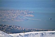 Lebanon, Skiing in lebanon, so high yet so close to the sea
