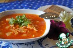 Рыбный суп из брюшек лосося