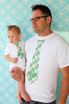 Baby onesie and Daddy T-shirt