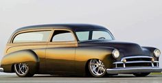 Believe this is a Troy Trepanier, Rad Rides by Troy, built '50 Chevy two door wagon.