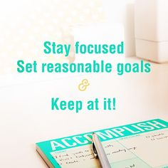 stay focused, set reasonable goals & keep at it! Startup Quotes, Stay Focused, Monday Motivation, Goals, Photo And Video, Videos, Instagram, Video Clip