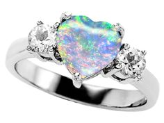 Original Star K™ 8mm Heart Shape Created Opal Engagement Ring Style Number: 27215 - Finejewelers.com