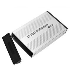 "Aluminum USB 2.0 SATA 3.5"" HDD Hard Disk Drive External Case 3.5inch SATA external HDD hard disk drive enclosure"