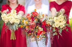 fall bouquets from Blossom Sweet and Ravenberg Photography on Utah Bride Blog .... along with a bit of wedding floral advice!