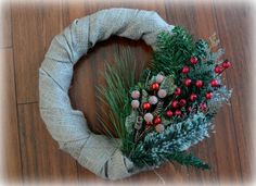 14 Rustic Burlap Christmas Wreath by TheRusticHomeByMegan on Etsy
