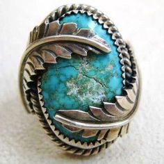 $0.99 - Chic Turquoise Gemstone Leaves 925 Silver Filled Ring Bride Wedding Jewelry6-10 #ebay #Fashion