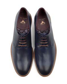Want.  IRRON - Classic derby shoe - Dark Blue | Men's | Ted Baker UK