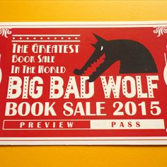 Thanks to the good people of Big Bad Wolf Books and 4 Thirteen Media, we have 20 pieces of these sought-after Preview Passes to Big Bad Wolf Books Sale 2015 ♥♥♥   To win a Preview Pass, simply do the following (a) snap a picture of The KopiShop and/or our amazing food, (b) share it on Twitter or Instagram with hashtags #thekopishop AND #bbw2015 (c) if your picture & caption blow our minds away, we'll give you one!  Simple right? May the odds be ever in your favor tributes!