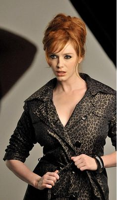 Trench Mad Men® Collection 'leopard print' Banana Republic. i want my hair like this!