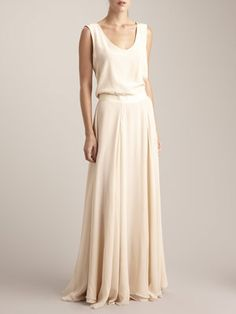 So floaty and angelic. Silk chiffon tank dress from Adam Lippes.