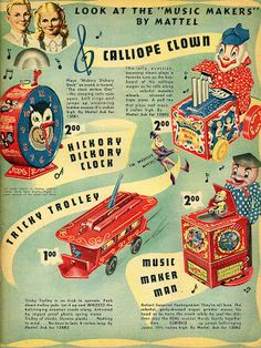 Letterology: A Treasure Chest of Toy Catalogs Retro Toys, Vintage Toys, Retro Vintage, Toy Catalogs, Pull Toy, Treasure Chest, Toy Store, Vintage Advertisements