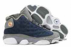 4f86a257f Air Jordan 13 Fur White Grey Blue New Release