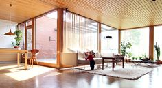 MCM open space with Cherner pretzel chair