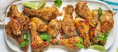 Sticky Honey and Sesame Chicken Drumsticks - Food Lovers Market Coriander Leaves, Fresh Coriander, Chicken Drumsticks, Chicken Wings, Sesame Chicken, 4 Ingredients, Tandoori Chicken, Honey, Cooking Recipes