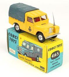 Very scarce Export Corgi Toys 416S Touring Secours Land Rover