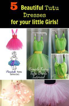5 Beautiful Tutu Dress DIY Ideas for your Little Girls! Kids Dress Up, Little Girl Dresses, Little Girls, Kids Girls, Girls Dresses, Tutu Dress Tutorial, Dress Tutorials, Dress Up Outfits, Diy Dress