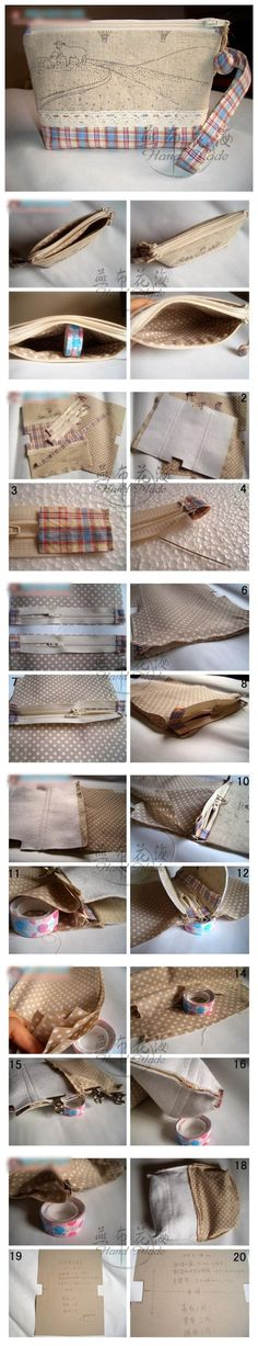 double zipper pouch