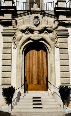 Door-diatils, of the Palazzo Zuccari, Rome, Italy / by William McClung