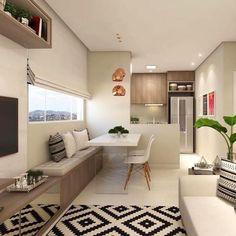 Dinner Room, Open Kitchen, Apartment Kitchen, Kitchen Interior, Kitchen Design, Condo Design, House Design, Living Room Designs, Living Room Decor
