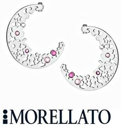 Orecchini Donna MORELLATO Luna Fiori fiore SACA05 Cristalli Bianchi Rosa PASQUA | eBay
