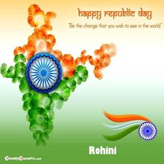 I Love India Profile Name And Photo Add Republic Day Pictures Happy Birthday Wishes Photos, Birthday Greetings, Photo Maker, Latest Good Morning, Writing Pictures, Anniversary Pictures, Good Morning Wallpaper, Light Quotes, Night Messages