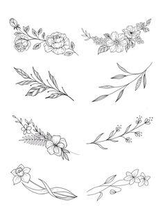 Classy Tattoos, Dainty Tattoos, Large Tattoos, Mini Tattoos, Cute Tattoos, Body Art Tattoos, Tatoos, Floral Tattoos, Tiny Flower Tattoos
