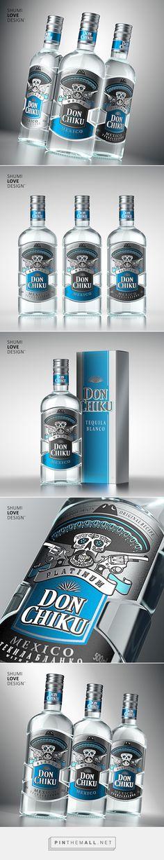 Don Chiku Tequila packaging design by Shumi Love Design (Russia) - http://www.packagingoftheworld.com/2016/09/don-chiku.html