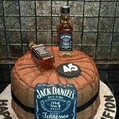 Amazing Jack Daniels   birthday cake!!!