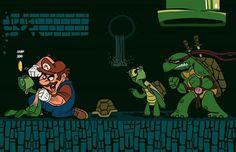 Mario vs TMNT