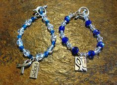Child Abuse Awareness Bracelets I made!