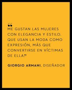 Giorgio Armani - El Palacio de Hierro #QuoteOfTheDay